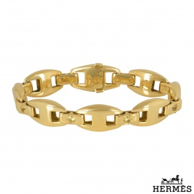 Hermès Yellow Gold Diamond Bracelet
